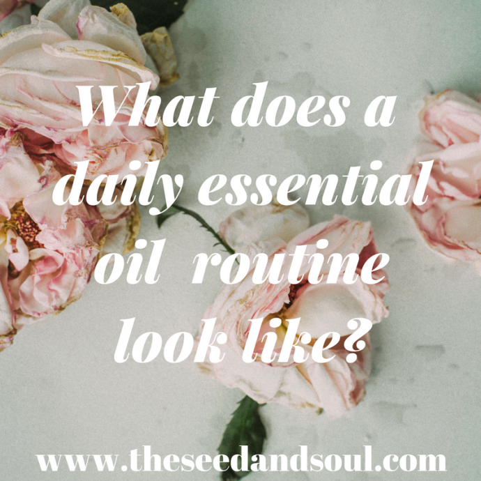 using essential oils daily