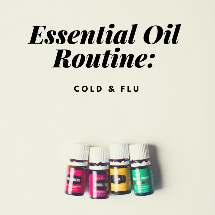 essential oil routine cold flu